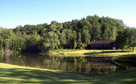 The Main Lodge across Blue Heron Lake